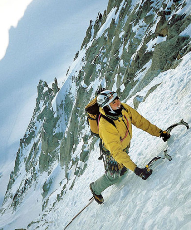 Goulotte Ginat V-5, Droites Nord Face, Mont Blanc, French Alps